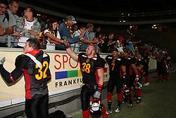 24.07.2010, Commerzbank Arena, Frankfurt, GER, Football EM 2010, Team Germany vs Team Austria, im Bild Team Germany und deutsche Fans,  EXPA Pictures © 2010, PhotoCredit: EXPA/ T. Haumer / SPORTIDA PHOTO AGENCY