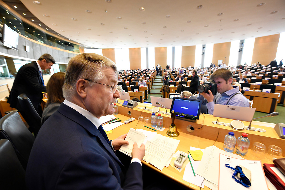 12 May 2017, 123rd Plenary Session of the European Committee of the Regions <br /> Belgium - Brussels - May 2017 <br />  <br /> CoR President Markkula<br /> &copy; European Union / Fred Guerdin