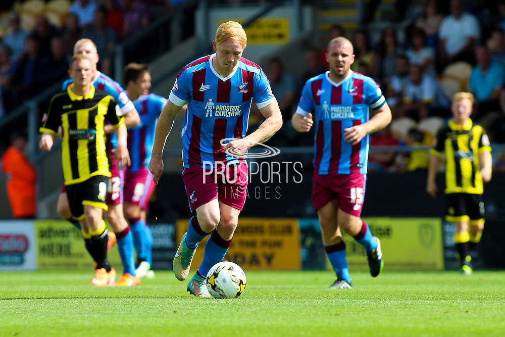 Luke Williams during the Sky Bet League 1 match between Burton Albion and Scunthorpe United at the Pirelli Stadium, Burton upon Trent, England on 8 August 2015. Photo by Aaron Lupton.
