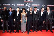 "The cast of ""Alacran Enamorado""during the premiere in Madrid"