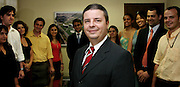Belo Horizonte_MG, Brasil...Retrato de Antonio Anastasia, vice-governador de Minas Gerais, com os jovens gerentes que tocam o Choque de Gestao no Estado...Antonio Anastasia portrait, vice governor of Minas Gerais, with young managers, they  work in Choque de Gestao project in the state...Foto: BRUNO MAGALHAES / NITRO