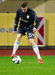 Rok Elsner during practice session of Slovenian National football team prior to the friendly match against Former Yugoslav republic of Macedonia on November 12, 2012 in Domzale, Slovenia. (Photo By Vid Ponikvar / Sportida)