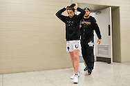 DALLAS, TX - MARCH 13:  Joanna Jedrzejczyk walks to the scale during the UFC 185 weigh-ins at the Kay Bailey Hutchison Convention Center on March 13, 2015 in Dallas, Texas. (Photo by Cooper Neill/Zuffa LLC/Zuffa LLC via Getty Images) *** Local Caption *** Joanna Jedrzejczyk