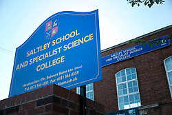 © Licensed to London News Pictures. 09/06/2014. Bordesley Green, Birmingham, UK. Pictured, Saltley School, one of the schools believed to habe been put into special measures by OFSTED. Photo credit : Dave Warren/LNP