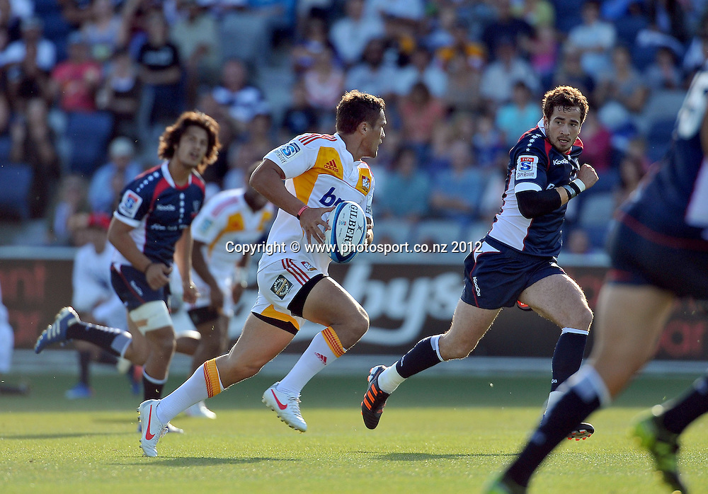 Jackson Willison (Chiefs)<br /> Rebels vs Chiefs<br /> Rugby Union - 2012 Super Rugby<br /> Simonds Stadium, Geelong<br /> Friday 3 February 2012<br /> &copy; Sport the library / Jeff Crow