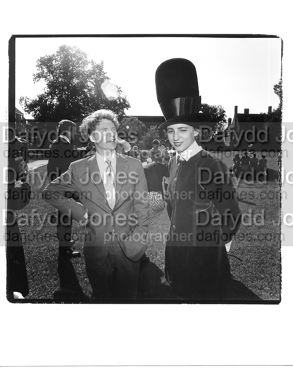 Malcolm McLaren and Selina Blow in Philip Treacy hat. Fraser wedding. 1991 approx. © Copyright Photograph by Dafydd Jones 66 Stockwell Park Rd. London SW9 0DA Tel 020 7733 0108 www.dafjones.com