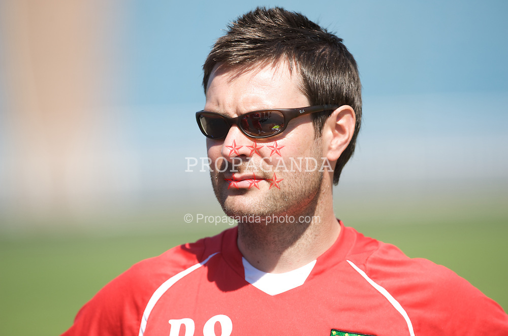 BAKU, AZERBAIJAN - Thursday, June 4, 2009: Wales' physiotherapist Dyfri Owen during training at the Tofig Bahramov Stadium ahead of the 2010 FIFA World Cup Qualifying Group 4 match against Azerbaijan. (Pic by David Rawcliffe/Propaganda)