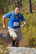 Kernhonkson, New York - Ivan Milan runs along the trail at Minnewaska State Park Preserve during the Shawangunk Ridge Trail Run/Hike 32-mile race  on Sept. 20, 2014.