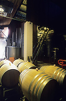 Wine barrels in winery Yarra Valley Victoria Australia
