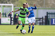 Forest Green Rovers Junior Mondal(25) during the EFL Sky Bet League 2 match between Forest Green Rovers and Macclesfield Town at the New Lawn, Forest Green, United Kingdom on 13 April 2019.