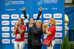 Heppler Lukas, SUI, Acardi van de Kapel, Lunger Winkler-Bischofberger Monika<br /> World Equestrian Games - Tryon 2018<br /> © Hippo Foto - Stefan Lafrenz<br /> 22/09/18