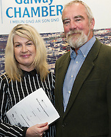 At the launch of the 'Work Experience agreement' between the Galway Chamber of Commerce (GCC) and Galway City Partnership, (GCP) were Maeve Joyce-Crehan GCC, and Declan Brassil CEO GCP . Photo:Andrew Downes, xposure