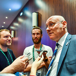 President of French Rugby Federation Bernard Laporte during the press conference World Cup Rugby 2023 on May 15, 2018 in Paris, France. (Photo by Aude Alcover/Icon Sport)