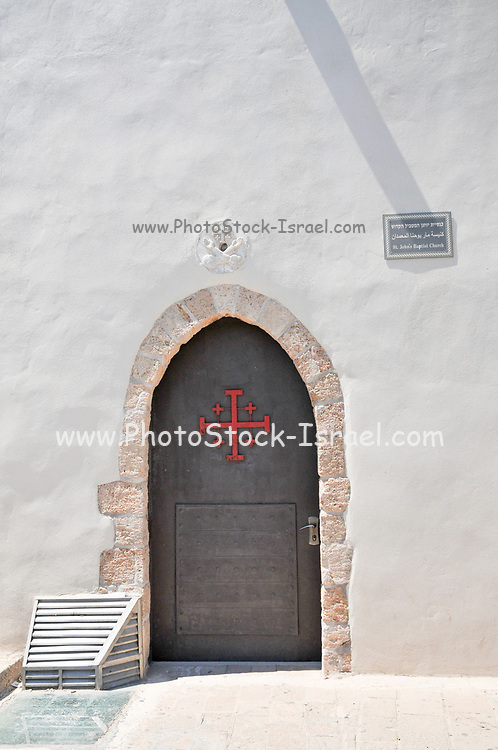 Israel, Acre, 18th century Church of St. John the Baptist, located within the walled city of Acre - the maritime capital of the Crusader kingdom and the last Crusader stronghold in the Holy Land