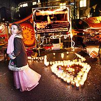Nederland, Amsterdam , 24 december 2011..Kerstavond bij de Occupy beweging op het Beursplein..VOORKEURSFOTO!.Foto:Jean-Pierre Jans