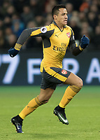 Football - 2016 / 2017 Premier League - West Ham United vs. Arsenal <br /> <br /> Alexis Sanchez of Arsenal at The London Stadium.<br /> <br /> COLORSPORT/DANIEL BEARHAM
