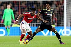 Adama Traore of Middlesbrough takes on Michy Batshuayi of Chelsea - Mandatory by-line: Robbie Stephenson/JMP - 20/11/2016 - FOOTBALL - Riverside Stadium - Middlesbrough, England - Middlesbrough v Chelsea - Premier League