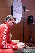 Warsaw, Poland - 2017 December 11: Marcin Matkowski from Poland rests while Photo Session of Davis Cup Team of Polish Tennis Association at Regent Hotel on December 11, 2017 in Warsaw, Poland.<br /> <br /> Mandatory credit:<br /> Photo by © Adam Nurkiewicz / Mediasport<br /> <br /> Adam Nurkiewicz declares that he has no rights to the image of people at the photographs of his authorship.<br /> <br /> Picture also available in RAW (NEF) or TIFF format on special request.<br /> <br /> Any editorial, commercial or promotional use requires written permission from the author of image.