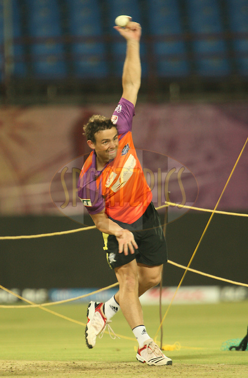 Steve O'Keefe during the Kochi Tuskers practice sessions held at the M. Chinnaswamy Stadium in Kochi, Kerala India on the 29th April 2011..Photo by Jacques Rossouw/BCCI/SPORTZPICS .