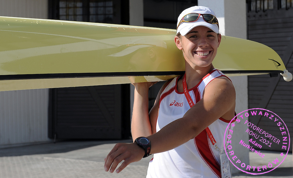 MAGDALENA FULARCZYK (POLAND) AFTER TRAINING EVENING SESSION DURING DAY THREE OF REGATTA WORLD ROWING CHAMPIONSHIPS ON MALTA LAKE IN POZNAN, POLAND...POZNAN , POLAND , AUGUST 25, 2009..( PHOTO BY ADAM NURKIEWICZ / MEDIASPORT )..PICTURE ALSO AVAIBLE IN RAW OR TIFF FORMAT ON SPECIAL REQUEST.