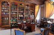 Scene of an editor's office from the early 20th century. Image taken from the filming of 'Paris la ville a remonter le temps' written by Carlo de Boutiny and Alain Zenou, directed by Xavier Lefebvre, a Gedeon Programmes production. Picture by Manuel Cohen