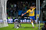 WAALWIJK, RKC Waalwijk - AZ, voetbal Eredivisie, seizoen 2013-2014, 17-08-2013, Mandemakers Stadion, RKC Waalwijk speler Jean-David Beauguel heeft de 1-1 gescoord.