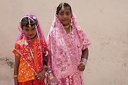 Girls in formal dress at Dargah shrine in Nagore.
