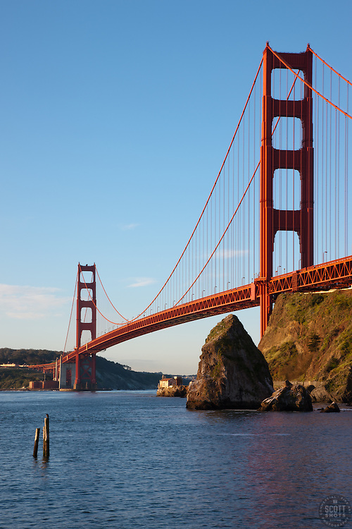 """Golden Gate Bridge 4"" - Photograph of San Francisco's famous Golden Gate Bridge shot in the early morning."