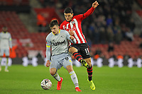 Football - 2018 / 2019 FA Cup - Third Round Replay: Southampton vs. Derby County<br /> <br /> Mason Mount of Derby holds Southampton's Mohamed Elyounoussi off the ball at St Mary's Stadium Southampton <br /> <br /> COLORSPORT/SHAUN BOGGUST