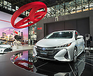 The 2017 Toyota Prius Prime plug-in hybrid was unveiled at the New York International Auto Show 2016, at the Jacob Javits Center. This was Press Preview Day one of NYIAS, and the Trade Show will be open to the public for ten days, March 25th through April 3rd.