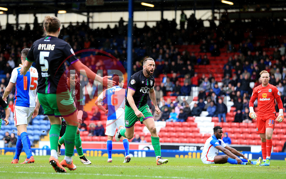 Aaron Wilbraham of Bristol City celebrates after scoring his sides second goal  - Mandatory by-line: Matt McNulty/JMP - 23/04/2016 - FOOTBALL - Ewood Park - Blackburn, England - Blackburn Rovers v Bristol City - Sky Bet Championship