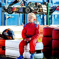 Nederland, Lelystad, 25-09-2016.<br /> Kartcentrum Lelystad.<br /> Dromen om een Max Verstappen te kunnen worden.<br /> Jonge karters tijdens hun training op zondagmorgen.<br /> Foto: Klaas Jan van der Weij