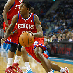 January 3, 2011; New Orleans, LA, USA; Philadelphia 76ers point guard Lou Williams (23) against the New Orleans Hornets during the first quarter at the New Orleans Arena.   Mandatory Credit: Derick E. Hingle