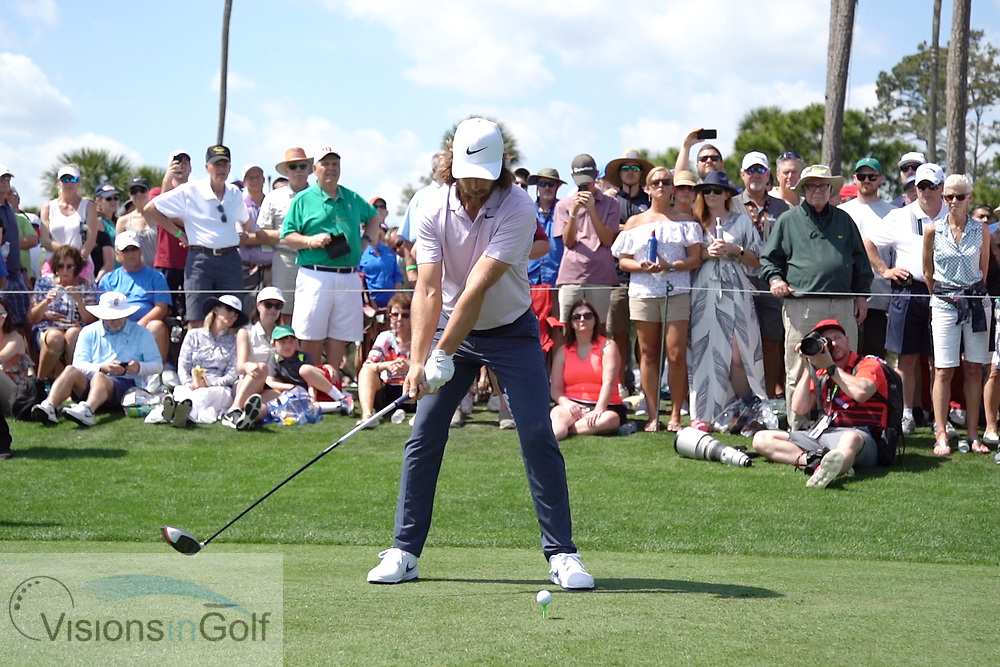 Tommy Fleetwood<br /> Face on<br /> With driver <br /> High speed swing sequence<br /> 2019<br /> <br /> Pictures Credit: Mark Newcombe/visionsingolf.com