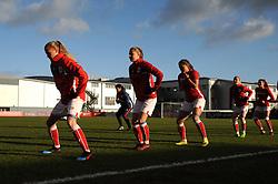 Bristol City Women warm up ahead of kick-off  - Mandatory by-line: Nizaam Jones/JMP - 27/01/2019 - FOOTBALL - Stoke Gifford Stadium - Bristol, England - Bristol City Women v Yeovil Town Ladies- FA Women's Super League 1