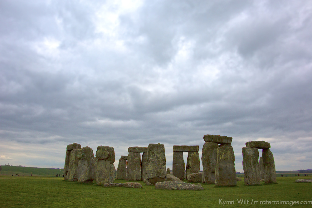 Europe, Great Britain, England, Wiltshire. Stonehenge, a UNESCO World Heritage Site.
