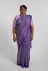 Older woman wearing a traditional Sari,