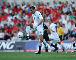 SWANSEA, WALES - WEDNESDAY, AUGUST 17th, 2005: Slovenia's Anton Zlogar in action against Wales during the International Friendly match at the New Stadium. (Pic by David Rawcliffe/Propaganda)