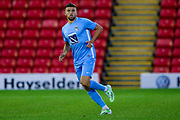 Coventry City defender James Pearson (12) in action  during the Pre-Season Friendly match between Barnsley and Coventry City at Oakwell, Barnsley, England on 18 July 2017. Photo by Simon Davies.