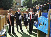 SOUTH BERMONDSEY, LONDON:  (L-R) Gillian Warren a resident, Ed Balls, Yvette Cooper, John Healey, Alfie Warren. Ed Balls, Labour Leadership candidate joins shadow housing minister John Healey and  shadow work and pensions secretary Yvette Cooper  during a visit to a housing development, The Falcon Works development, in central London on 31 August 2010. STEPHEN SIMPSON..