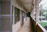 Tuol Sleng was a regular high school that was converted to a prison during the the Pol Pot era, where many atrocities were committed.