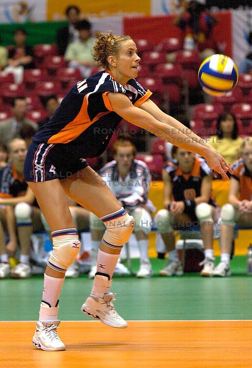 21-06-2000 JAP: OKT Volleybal 2000, Tokyo<br /> Nederland - Croatie 2-3 / Erna Brinkman