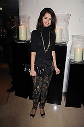 SELENA GOMEZ at the launch party for 'Promise', a new capsule ring collection created by Cheryl Cole and de Grisogono held at Nobu, Park Lane, London on 29th September 2010.