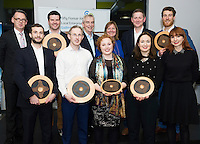 Repro FREE:   Mic Fitzgerald, One Page CRM, Paul Killoran ExOrdo, Galway's Best Young Entrepreneur, IBYE 2016, Dave Hickey, Connacht Tribune Group and Breda Fox, Head of Enterprise, Local Enterprise Office Galway, Dermot Nolan, Mazars, Richard McCurry, Newbie Chinese, Runner Up, Best New Idea Galway, IBYE 2016  ExOrdo Front row Moshe Zilversmit, Signum Surgical, Winner Best New Idea Galway, IBYE 2016, Dermot Clancy, OneTouch Telecare, Winner Best Startup Business Galway, IBYE 2016, Niamh Daniels, Niamh Daniels, Runner Up Best Startup Business Galway, IBYE 2016, Margaret Fitzpatrick, Training Matters, Runner Up, Best Established Business, IBYE 2016 and  Dorothy Creaven, Element Wave, Awarded by Local Enterprise Office Galway at the Portershed. <br /> Photo:Andrew Downes, xposure