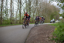 Katarzyna Pawlowska (POL) of Boels-Dolmans Cycling Team leads the break in the fourth lap of Stage 3 of the Healthy Ageing Tour - a 154.4 km road race, between  Musselkanaal and Stadskanaal on April 7, 2017, in Groeningen, Netherlands.
