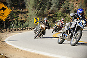 BMW motorcycles canyon carving in California during the 2009 Rawhyde Adventure Rider Challenge competition in Castaic, CA