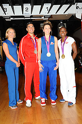 Louis Smith MBE, Jade Jones MBE, Nicola Adams MBE and Sophia Warner attend a photocall to promote Team VA., Team VA will represent Virgin Active at key outdoor sporting events this summer as they encourage Brits to get active and try something new., The four athletes will take part in the following events: Virgin Active London Triathlon (27-28th July 2013), Prudential RideLondon (3-4th August 2013) and Bloomberg Square Mile Relay (19th September 2013), Virgin Active Fitness centre<br /> London, United Kingdom, <br /> Friday, 31st May 2013<br /> Picture by Chris  Joseph / i-Images