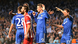 30.04.2014, Stamford Bridge, London, ENG, UEFA CL, FC Chelsea vs Atletico Madrid, Halbfinale, Rueckspiel, im Bild Chelsea's forward Fernando Torres celebrates scoring a goal // Chelsea's forward Fernando Torres celebrates scoring a goal during the UEFA Champions League Round of 4, 2nd Leg Match between Chelsea FC and Club Atletico de Madrid at the Stamford Bridge in London, Great Britain on 2014/05/01. EXPA Pictures &copy; 2014, PhotoCredit: EXPA/ Mitchell Gunn<br /> <br /> *****ATTENTION - OUT of GBR*****
