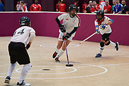 Graz, Austria - 2017 March 17: SO Hungary compete with SO Spain in Floor Hockey while Special Olympics World Winter Games Austria 2017 at Messe Graz on March 17, 2017 in Graz, Austria.<br /> <br /> Mandatory credit:<br /> Photo by © Adam Nurkiewicz / Mediasport<br /> <br /> Adam Nurkiewicz declares that he has no rights to the image of people at the photographs of his authorship.<br /> <br /> Picture also available in RAW (NEF) or TIFF format on special request.<br /> <br /> Any editorial, commercial or promotional use requires written permission from the author of image.<br /> <br /> Image can be used in the press when the method of use and the signature does not hurt people on the picture.