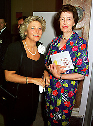 Left to right, MRS VIVIEN DUFFIELD and LADY SUSAN HUSSEY, at an exhibition in London on 7th September 1999.MUY 63